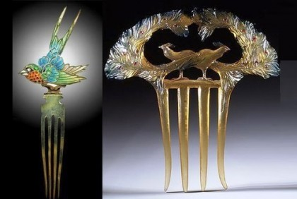 Early 20th century Art Nouveau combs