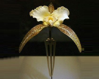 Orchid Art Nouveau comb, the beginning of the 20th century