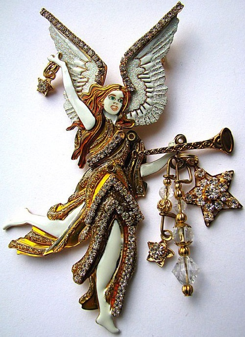 Brooch pendant Angel. Lunch at the Ritz jewellery