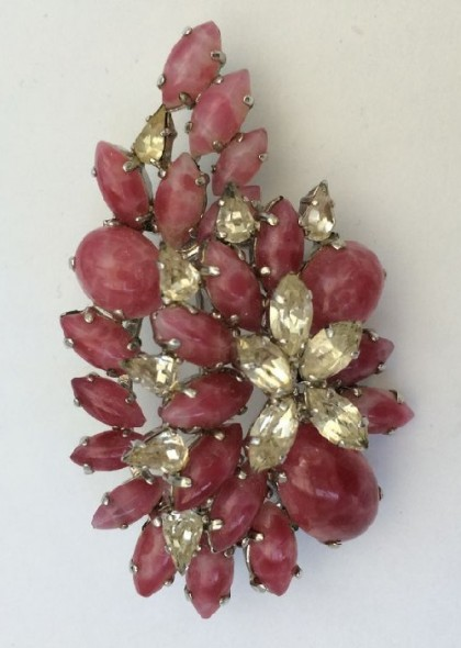 Exquisite Brooch-pendant. Christian Dior jewellery, 1968