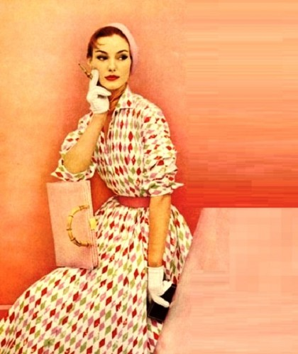 Fashionable Christian Dior New Look, 1950s