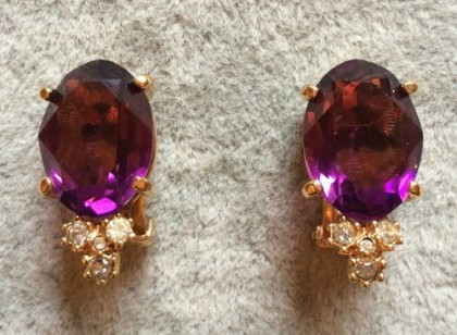 Gorgeous Vintage clips. Christian Dior jewellery
