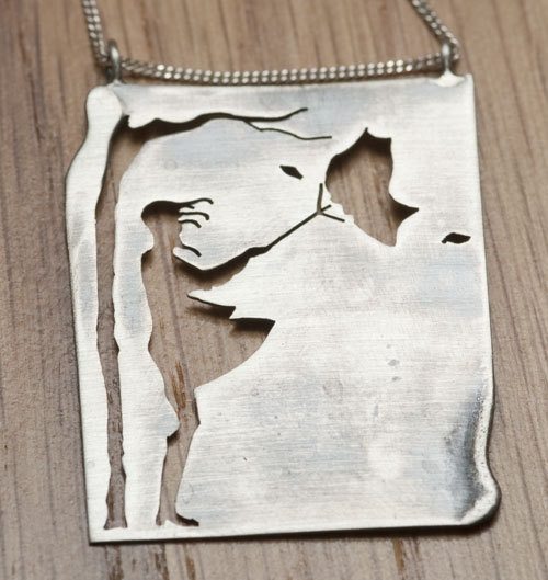 Girl in the wind, Natasha Wood Silver jewellery