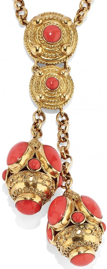 Stunning Gold and coral necklace