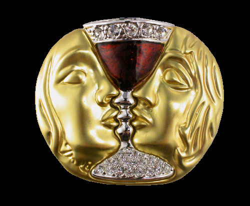 Salvador Dali brooch Tristan and Isolde