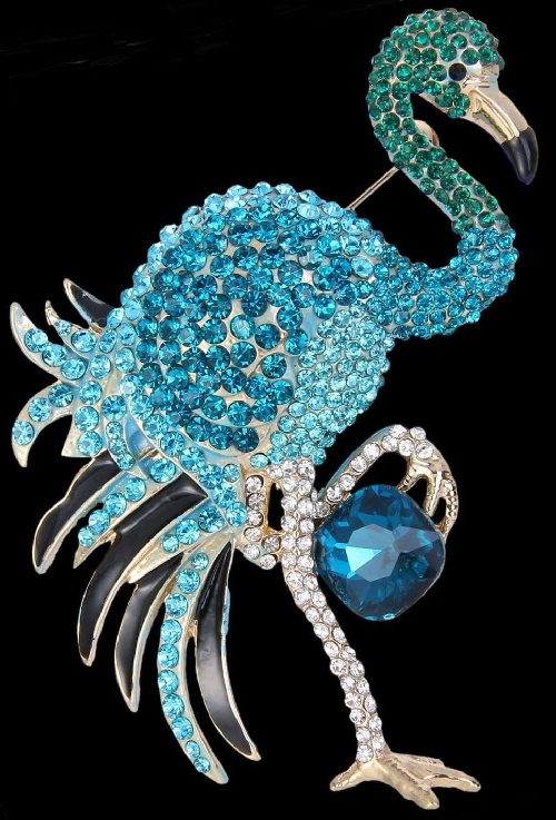 Swarovski brooch Flamingo