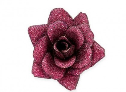 Brooch Rose. Titan, rubies (about 5,000 pieces weighing 300 carats). Christie's auction