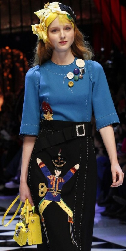 Lots of buttons instead of a brooch