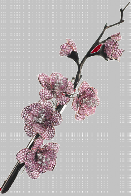 Sakura brooch. Jewellery by Michele della Valle