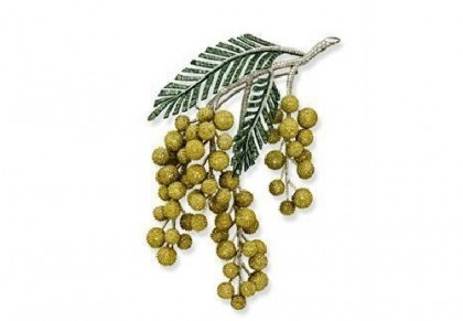Gold Mimosa Brooch. Diamonds, tsavorite. Christie's auction