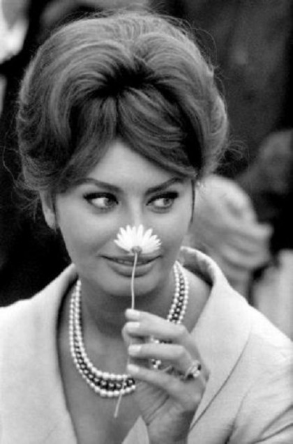 Young Italian film actress Sophia Loren