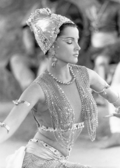 Belly dancer set of jewellery. Debra Paget