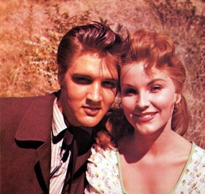 Elvis Presley and Debra Paget in 1956 film Love Me Tender