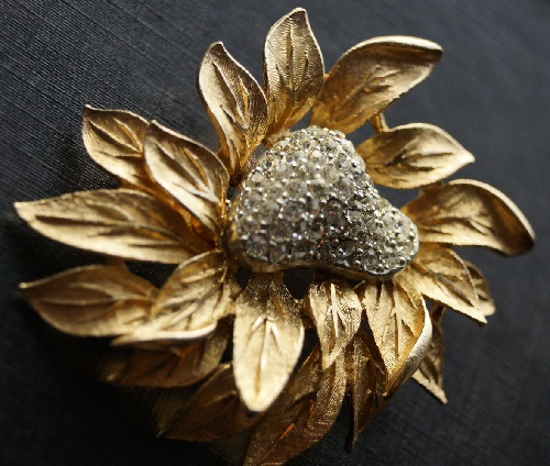 Vintage brooch Flower of paradise, 1960s, Capri vintage costume jewellery
