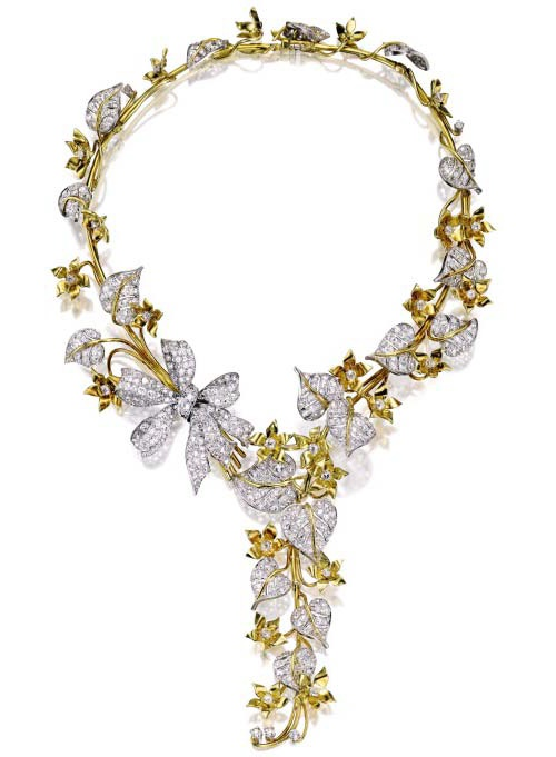 Norma Shearer jewellery - Gold, Platinum and Diamond Necklace