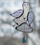 Vera Yurieva stained glass jewellery decorations