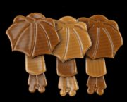 Umbrella girl brooch