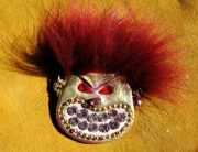 Cookie Monster Brooch, BillyBoy. Surreal Bijoux 1985