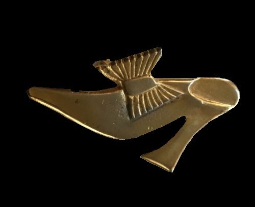 Gold Tone shoe brooch, 1987made in France