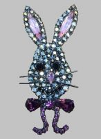 Easter Bunny brooch
