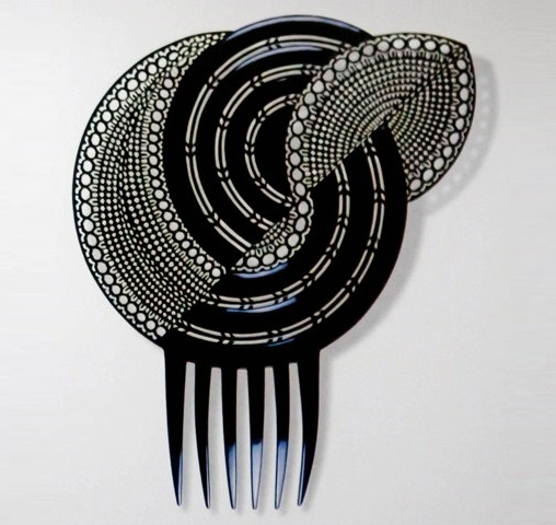 Hair Comb by Auguste Bonaz 1920