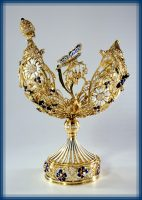 Russian field, Easter egg. Gold, diamonds, enamel