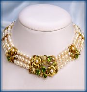 Spring. Gold, diamonds, pearls, peridots