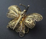 Portugal filigree vermeil butterfly