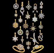 A huge range of jewelery from the company Nakshatra