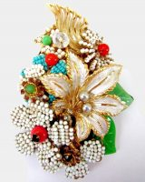 White lily brooch