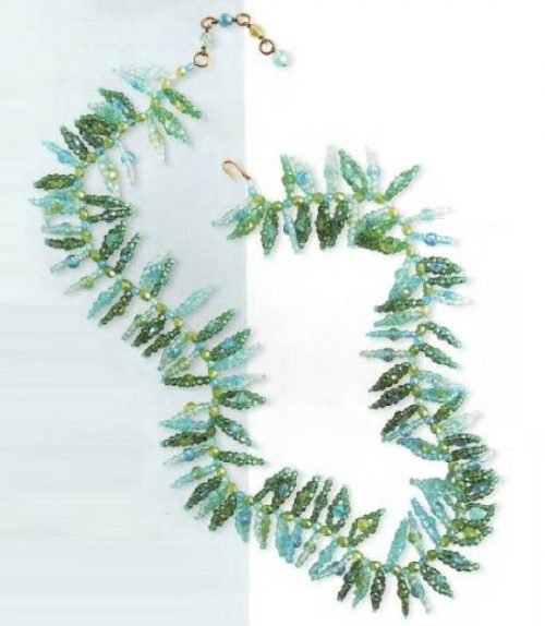 Necklace - blue, green and turquoise glass. Early 1960's. circumference 72.5 cm £ 1400-1500