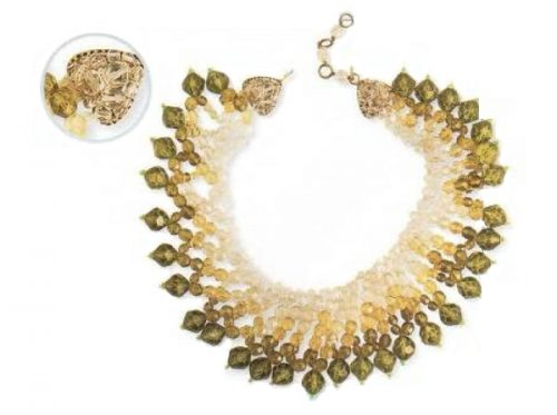 Plastic and citrine of green color. 1960s $ 500