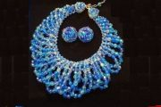 Shades of Blue Mermaid Necklace and Matching Earrings