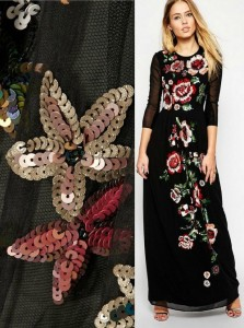 Needle & Thread - handmade floral sequin design