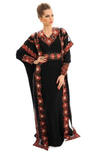 Abai (traditional Muslim dress), created by British designer Debbie Wingham
