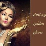 Anti-ageing golden gloves