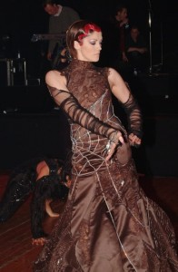 Dress by Belgian designer Nicky Vankets