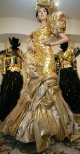 Ginza Tanaka dress of gold coins