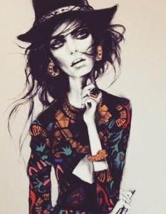 Fan art. Polish fashion model Zuzanna Bijoch in fanart