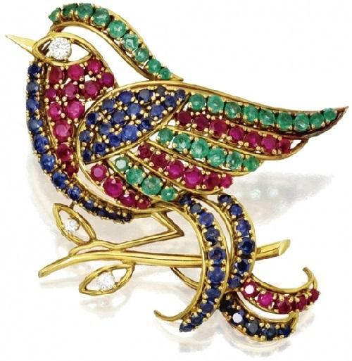brooch Bird of Gold