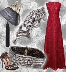 Ring in the New Year with this amazing Giambattista Valli Official gown adorned with Bochic Conquistador ring, Diamond bracelet, and The Bochic Clutch