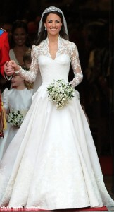 The wedding dress of Kate Middleton