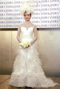 Wedding dress by Japanese designer Ginza Tanaka