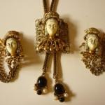 Asian Princess Bolo Necklace & Earring Set