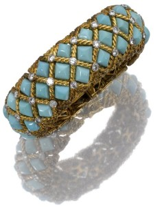 Turquoise stone connecting hearts forever