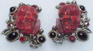 Okina mask earring