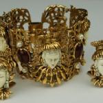 Massive Asian Princess Bracelet Earring set