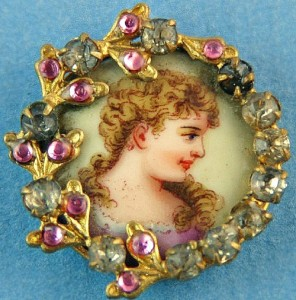 Antique jewellery buttons