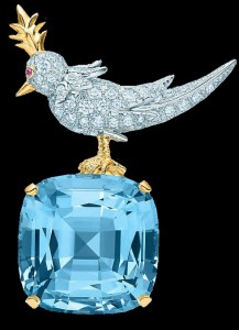 Bird on a Rock Clip. French jewelry designer Jean Schlumberger