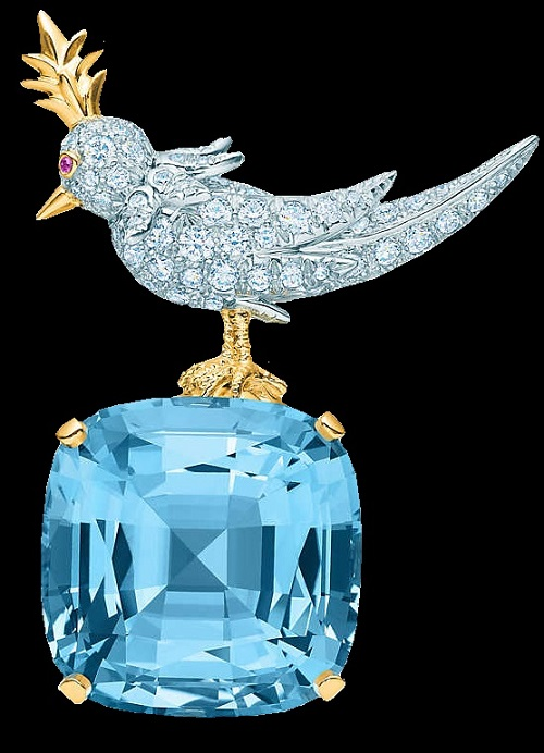 Bird on a Rock Clip. French jewelry designer Jean Schlumberger